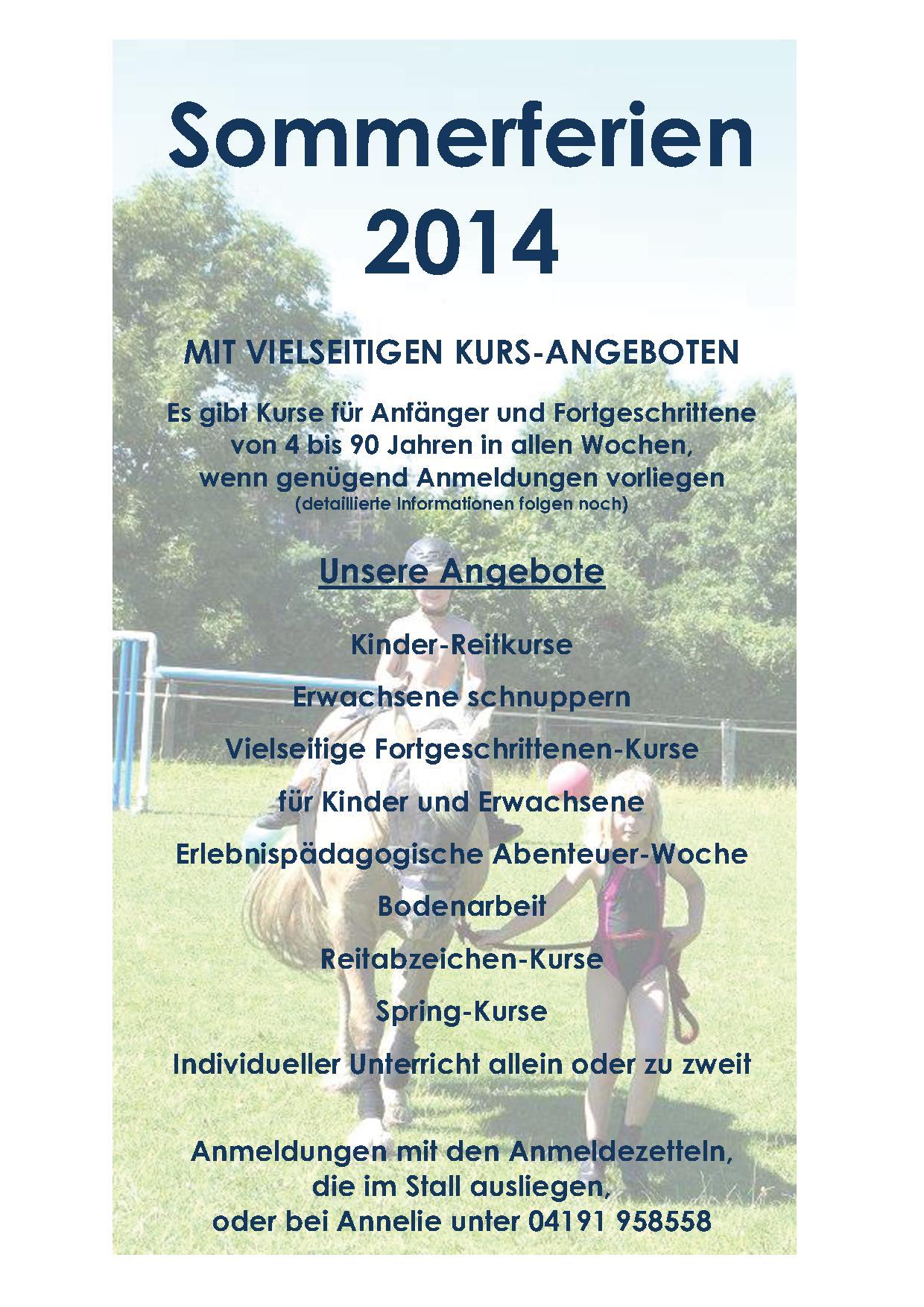 Sommerferien 2014